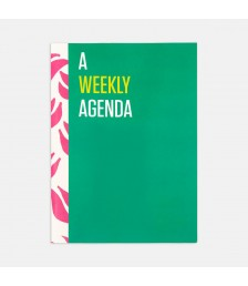 Ajanda - Contrasting Set Haftalık Ajanda: Yeşil