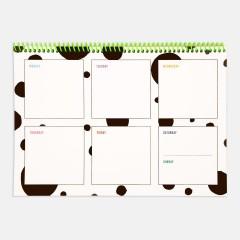 Planlayıcı - Contrasting Set Haftalık Planlayıcılar: Pembe
