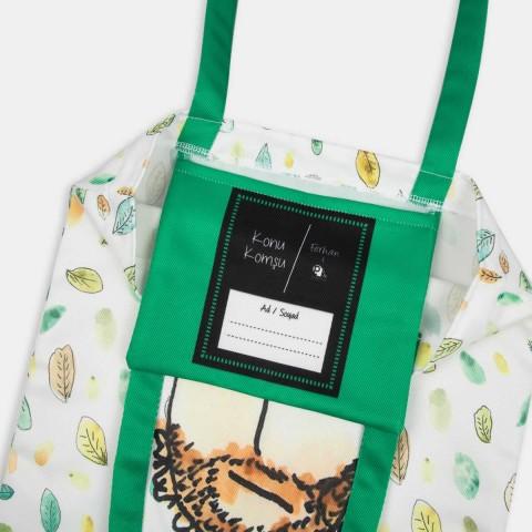 Bez Çanta - Ferhan4PKDesign Bez Çantalar - Yapraklar