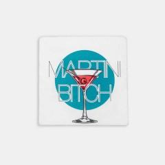 Bardak Altlığı - Hipster Series Coasters - ICONS: Martini Bitch Single