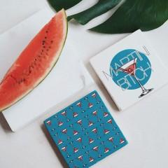 Bardak Altlığı - Hipster Series Coasters - ICONS: Cheers Pattern