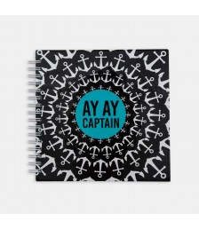 Defter - Hipster Series Notebooks - PATTERNS: AY AY CAPTAIN