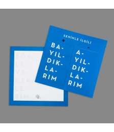 Hediye Kartı - İkili Kartlar - Mavi