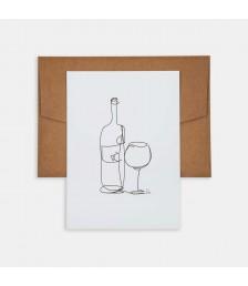 Mini Poster - Line Drawings 13x18 - Wine