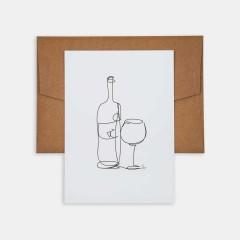Line Drawings 13x18 - Wine