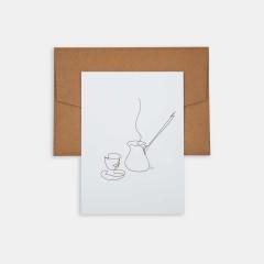 Line Drawings 13x18 - Turkish Coffee