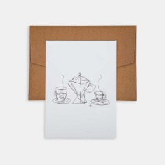 Mini Poster - Line Drawings 13x18 - Coffee