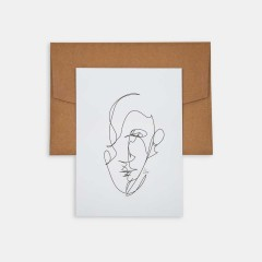 Mini Poster - Line Drawings 13x18 - Man 2