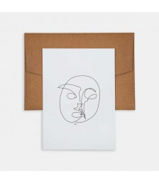 Mini Poster - Line Drawings 13x18 - Face 1