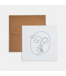 Mini Poster - Line Drawings 15x15 - Face 1