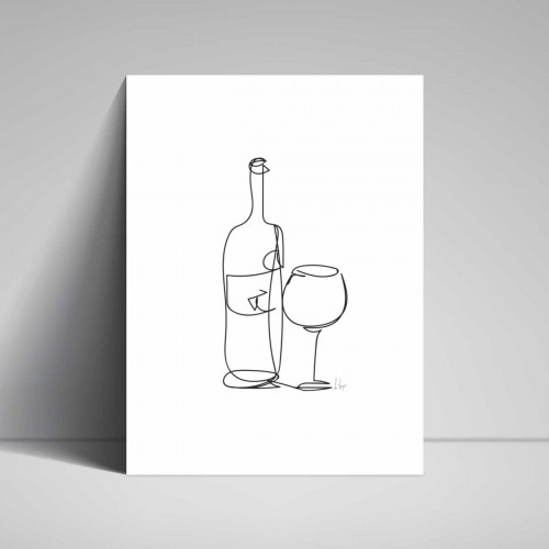 Poster - Line Drawings 30x40 - Wine