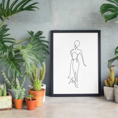 Poster - Line Drawings 30x40 - Figure 1