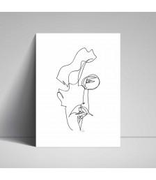 Poster - Line Drawings 30x40 - Man 3