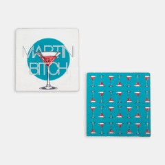 Bardak Altlığı Seti - Hipster Series Coasters - ICONS: Martini Bitch Set