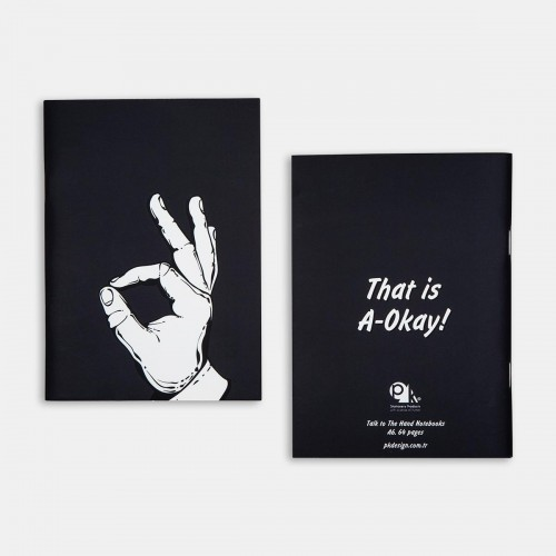 Defter - Talk to the Hand Notebooks - A-Okay
